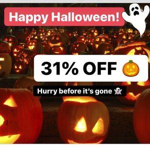 31% OFF Happy Halloween Sale!!!